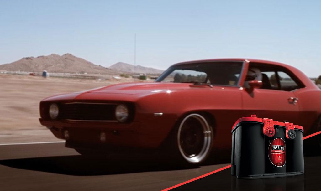 Carros deportivos usan REDTOP batería OPTIMA roja